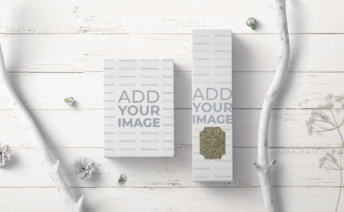 Caixas de Embalagem de Chá Quadrada e Vertical