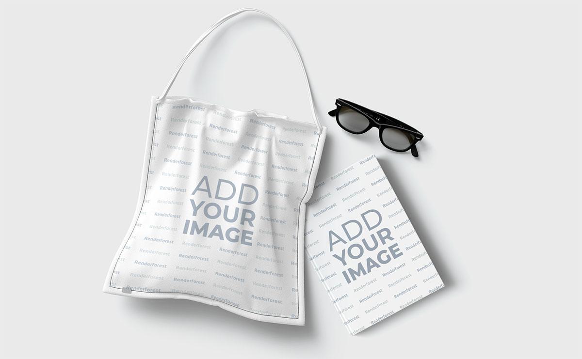 Alışveriş Çantası, Gözlük ve Kitap