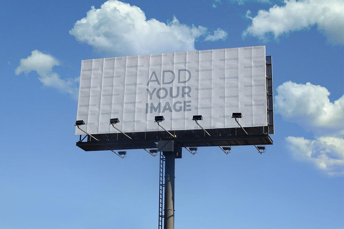 Highway Billboard Against a Sky Background