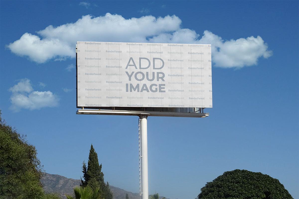 Horizontal Billboard on a Nature Background