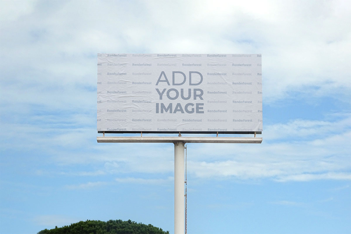 Zoomed-out Horizontal Billboard Front View