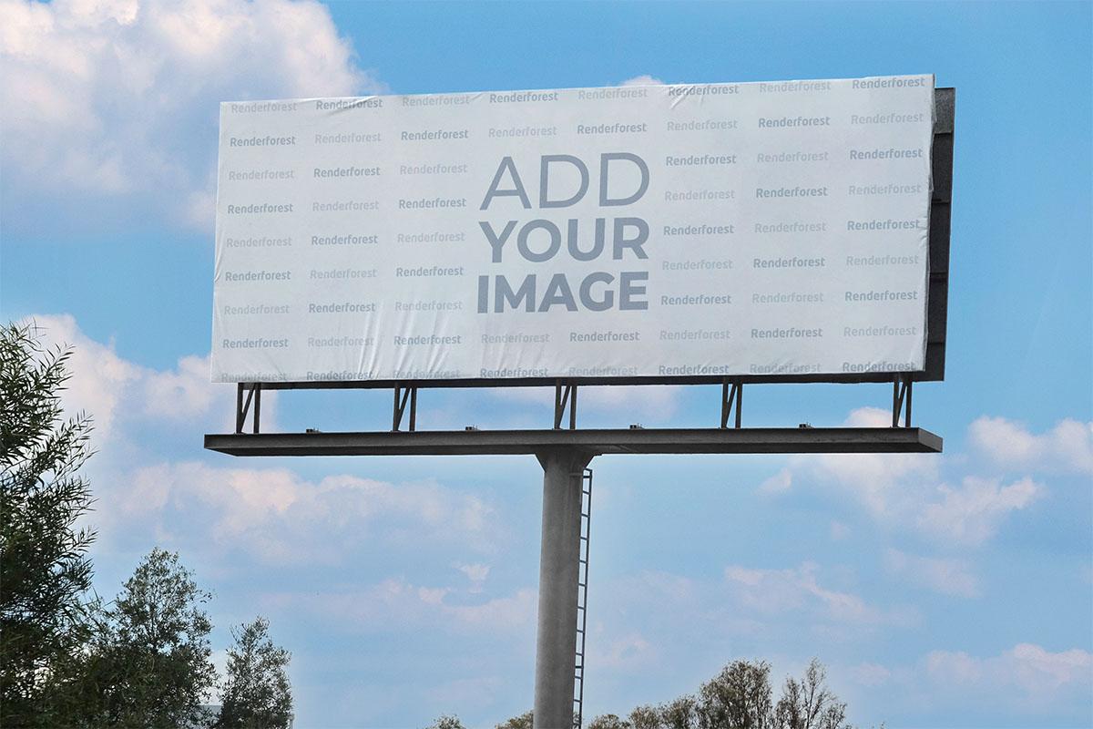 Long Horizontal Billboard in Nature