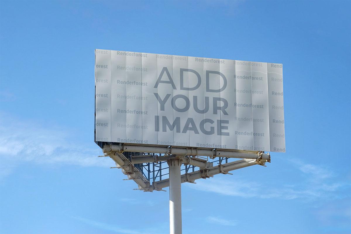 Long Horizontal Billboard Low Angle View