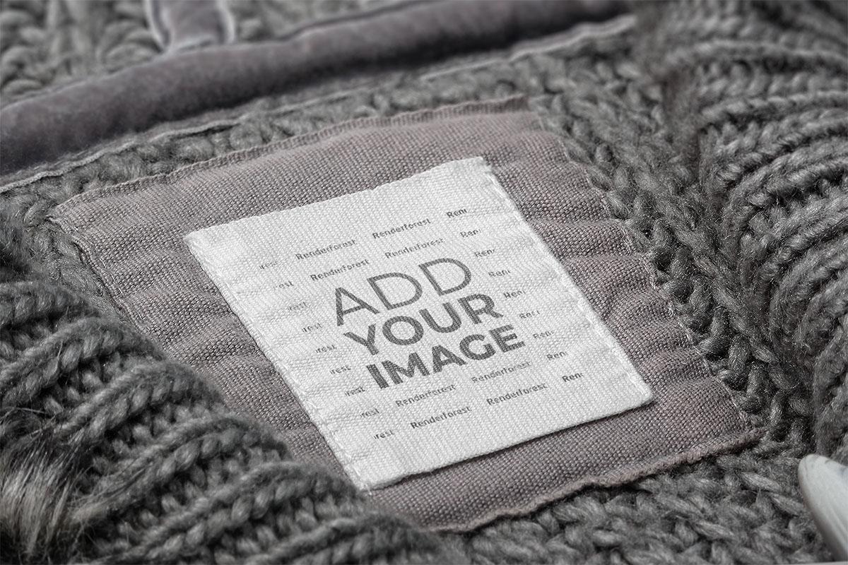 ウールの服のタグ
