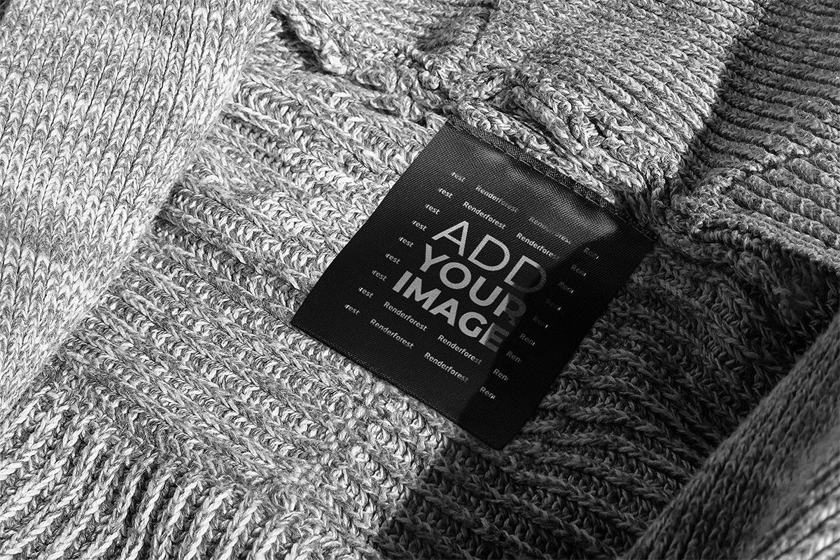 ウール衣服のタグ