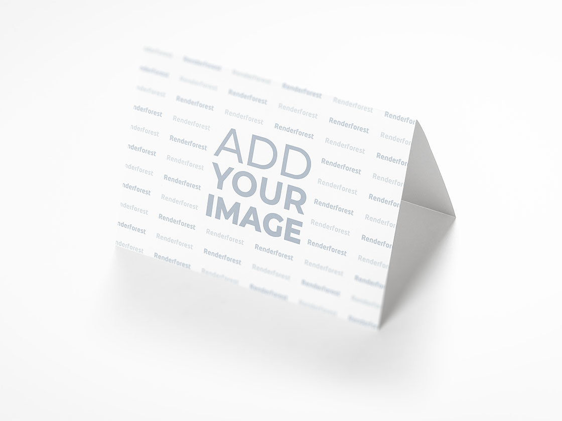 Paper Table Tent on a White Surface