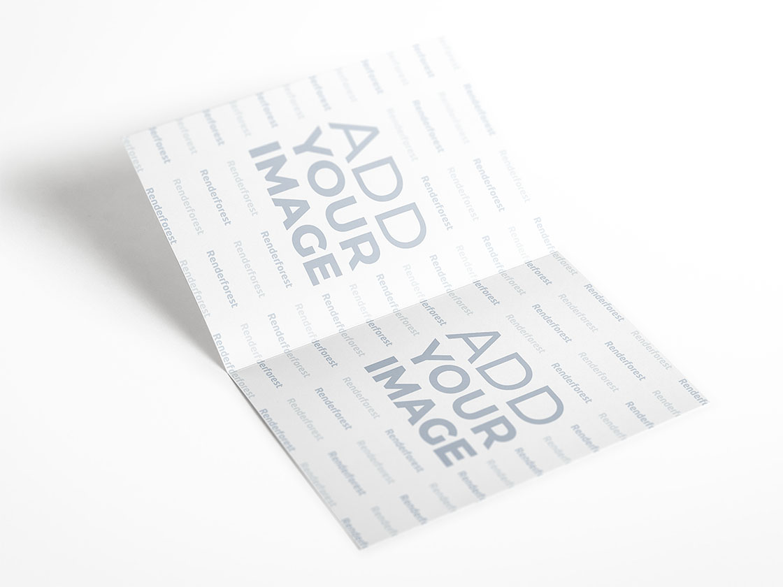 Open Booklet on a White Surface