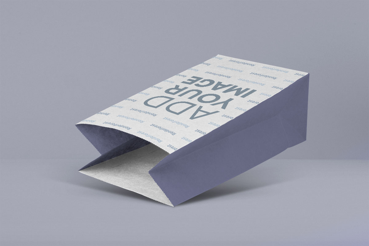 Square Bottom Paper Bag Laying Down