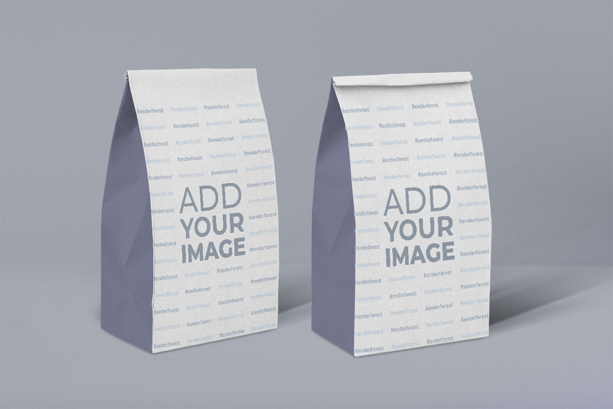 Front and Back SOS Paper Bags