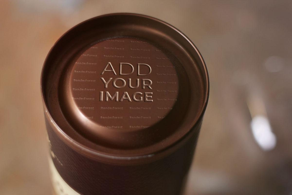 Логотип в коричневом круге