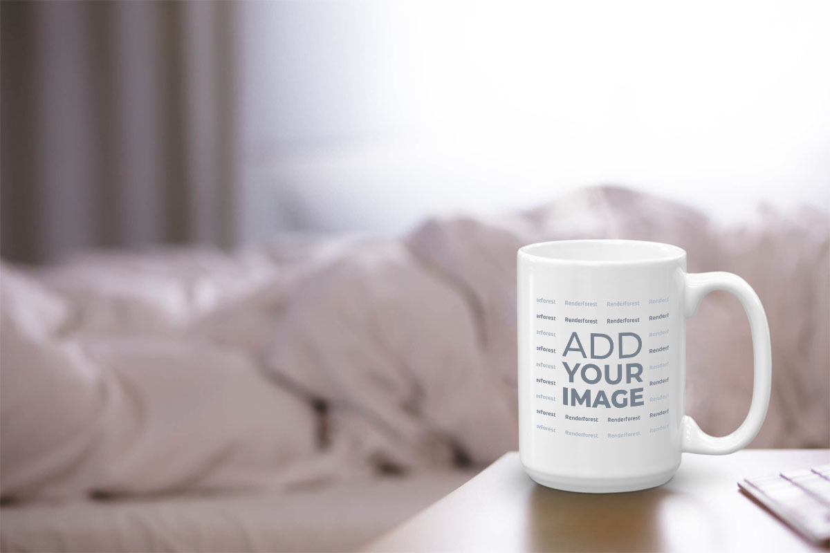 Mug on a Bedroom Desk