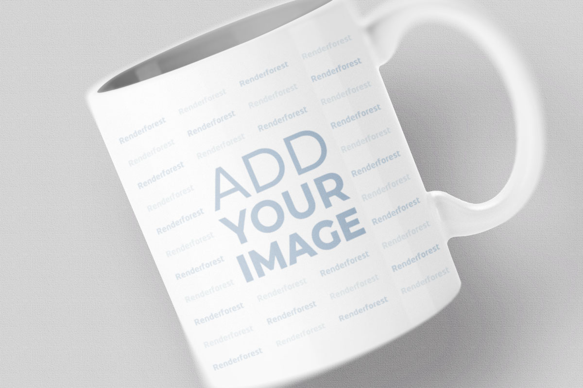 Mug on a Colored Background