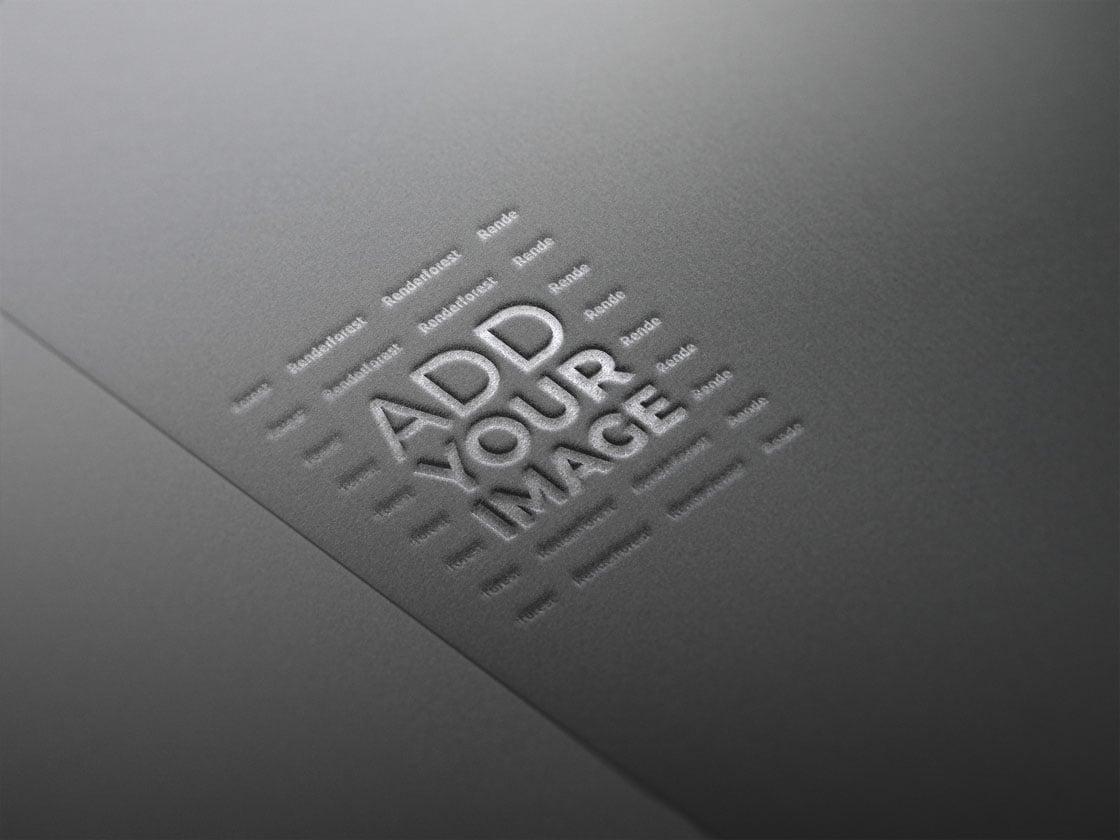 شعار على ورقة سمراء