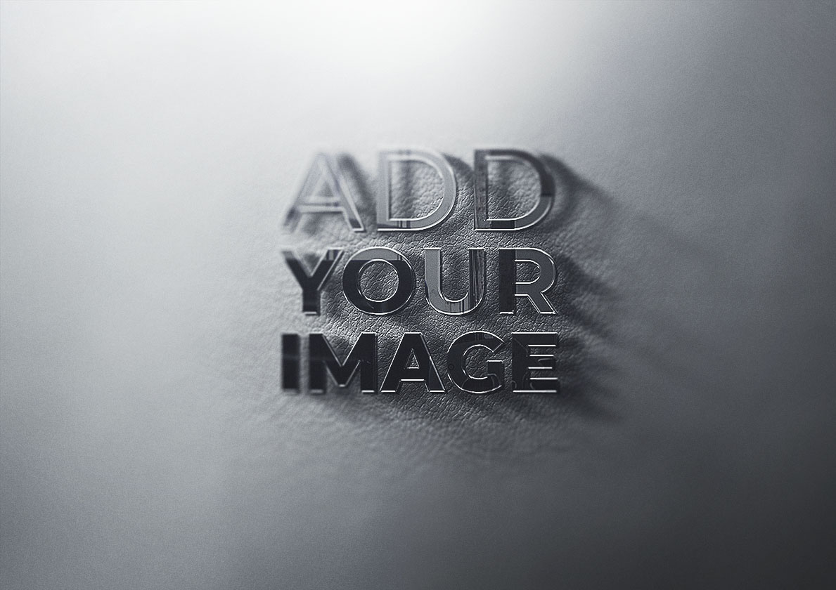 Logotipo 3D em um Tecido de Couro