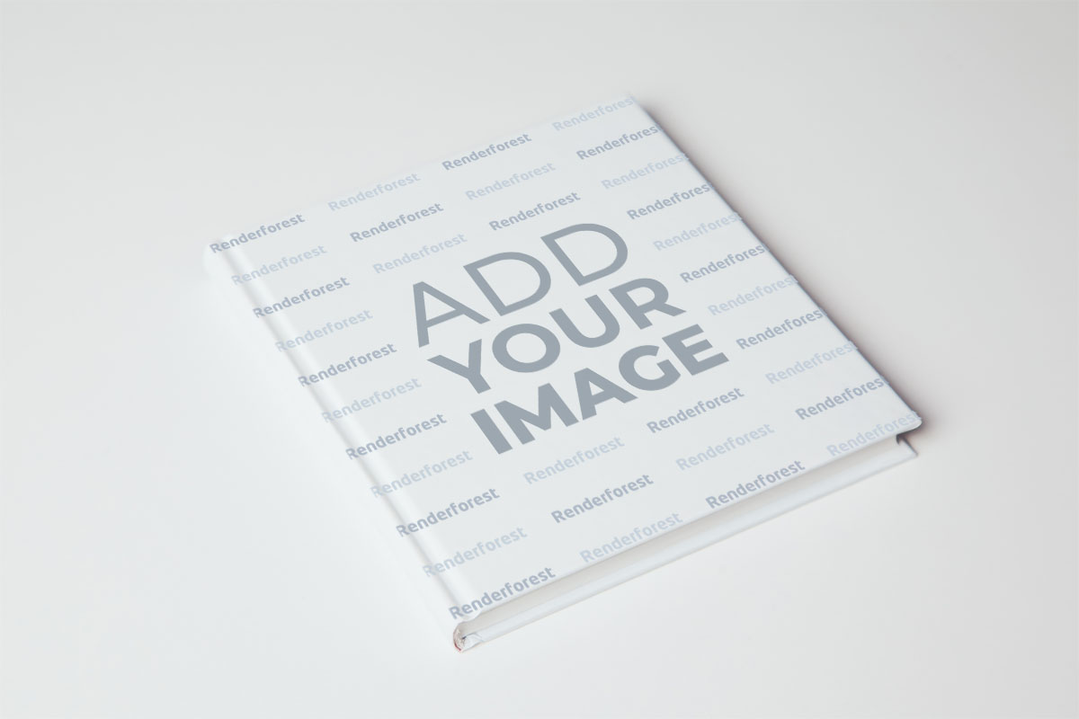 High Angle View of a Tilted Book