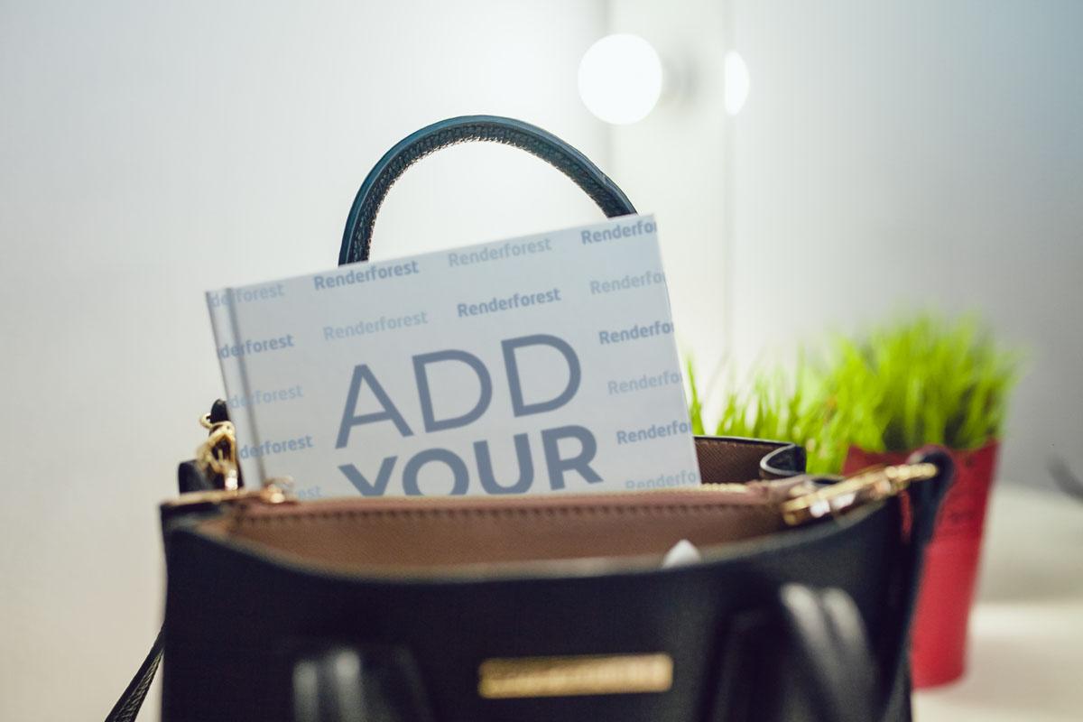 Recipe Book Inside a Handbag
