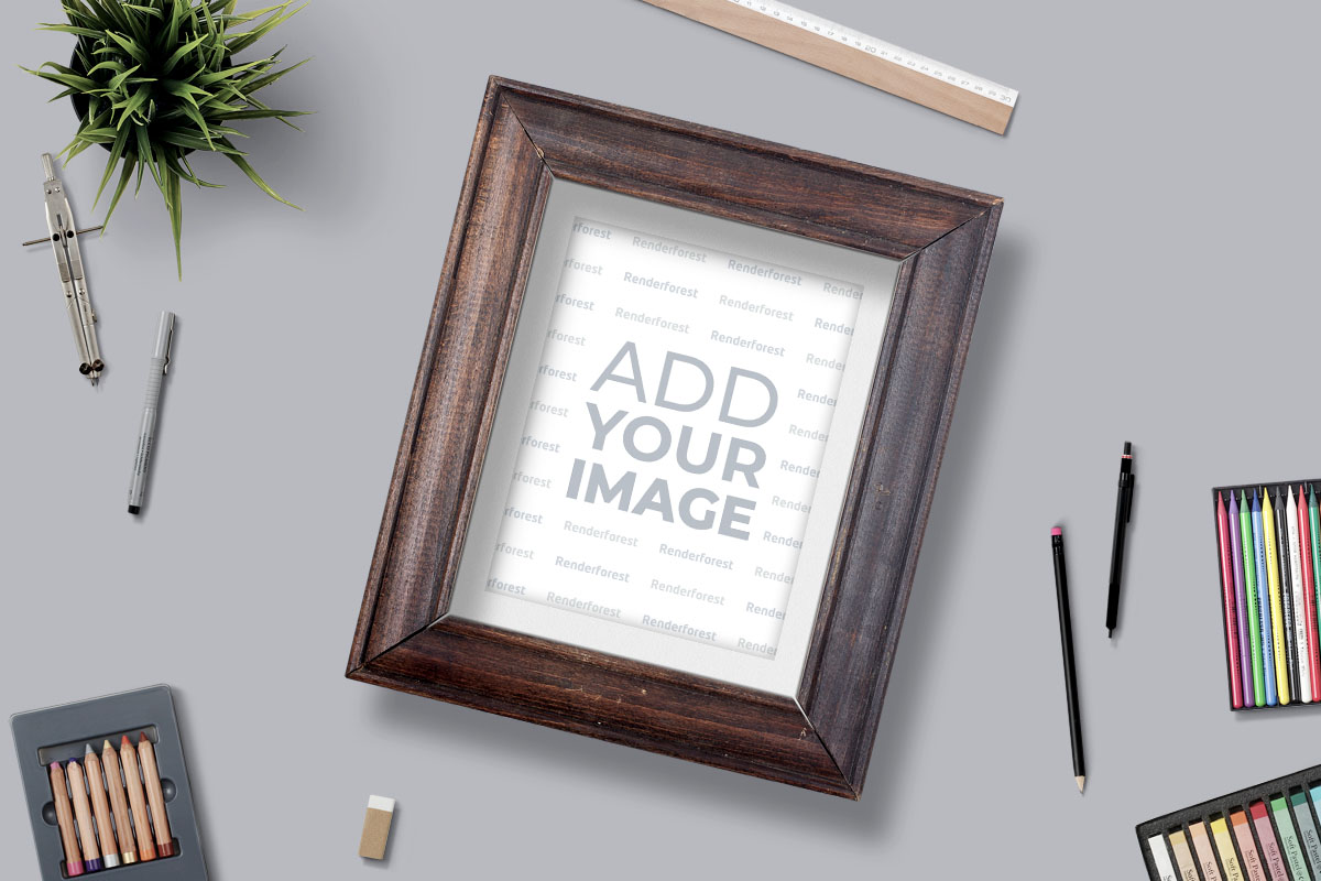 Picture Frame with Drawing Tools
