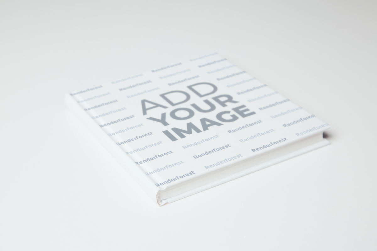 Low Angle View of a Tilted Book