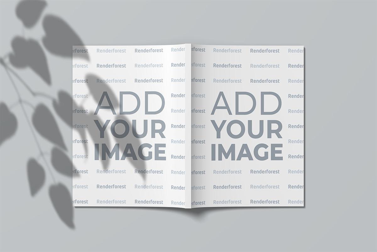 開いた外側の米国のレターサイズの雑誌