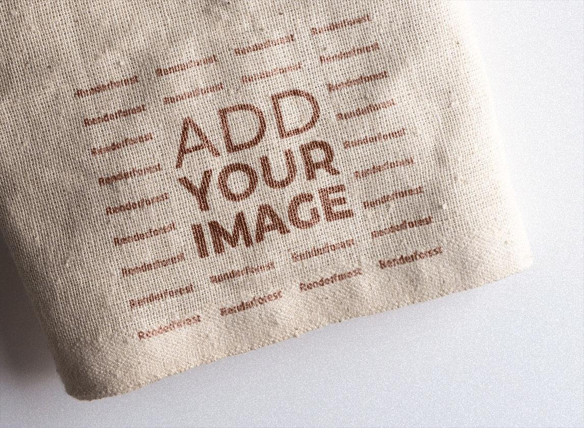 Логотип на льняной ткани