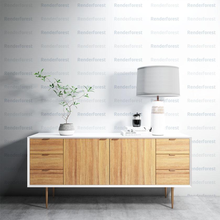 壁紙デザインのモックアップ
