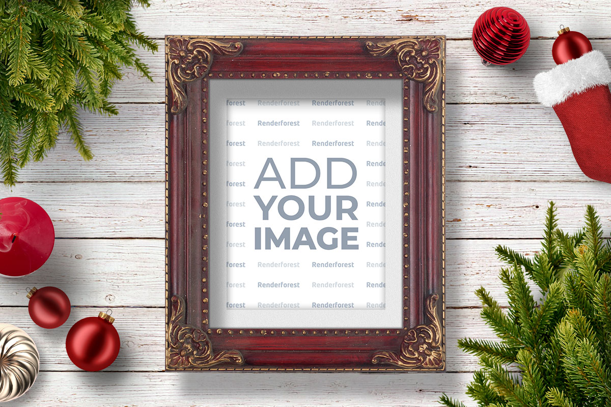 Vintage Christmas Photo Frame