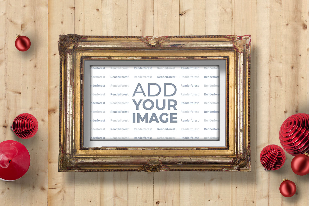Holiday Retro Photo Frame