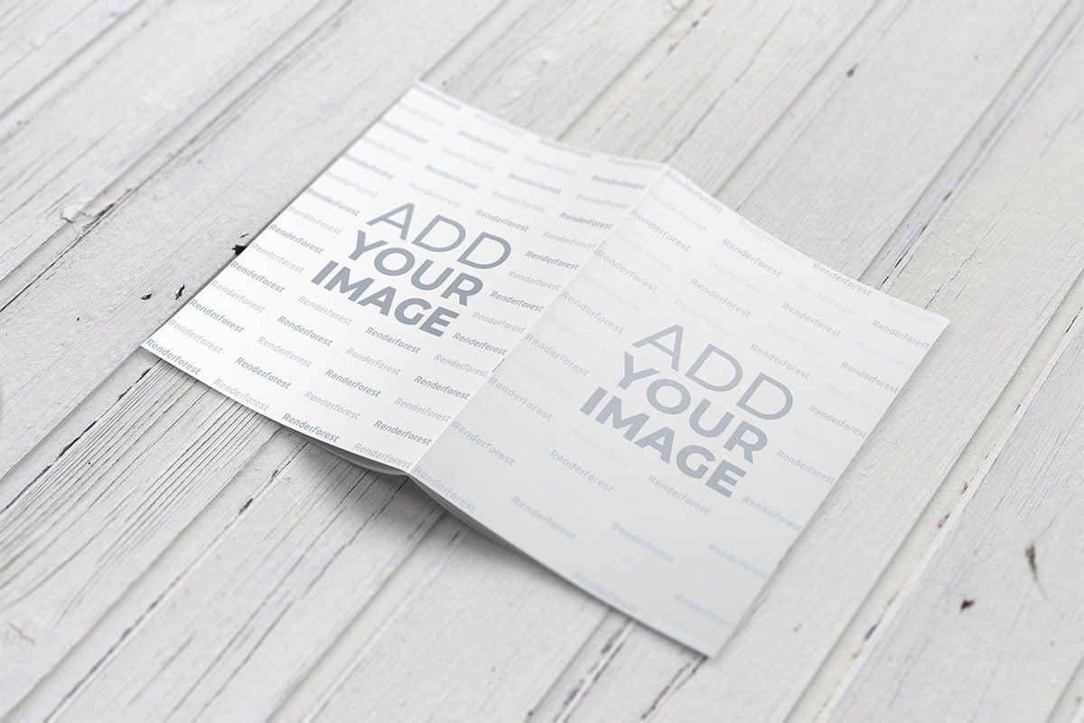 Maquete de capa de revista e contracapa