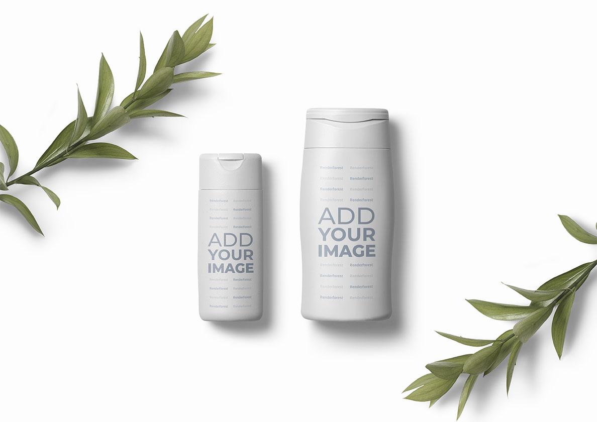Zwei Kosmetik-Container