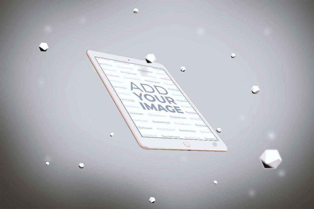 iPad in der Luft