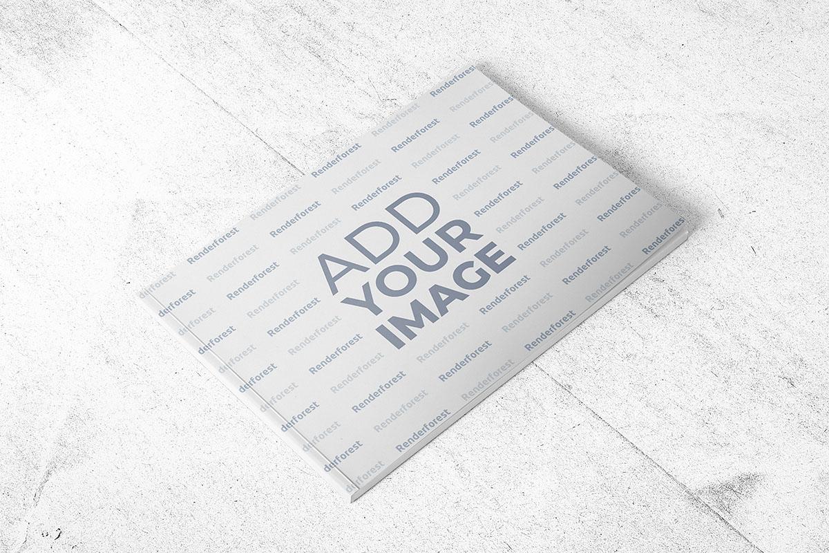 Yatay Tasarımlı Karton Kapaklı İnce Kitap