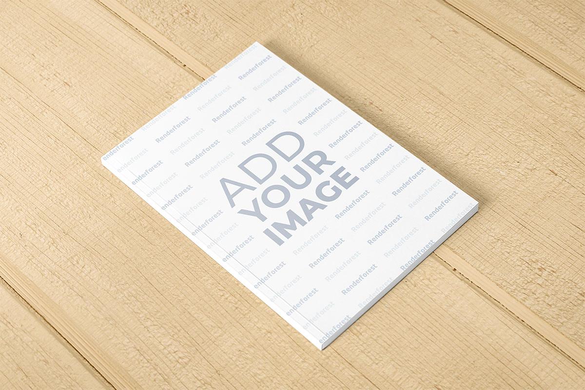 Dikey Tasarımlı Karton Kapaklı İnce Kitap