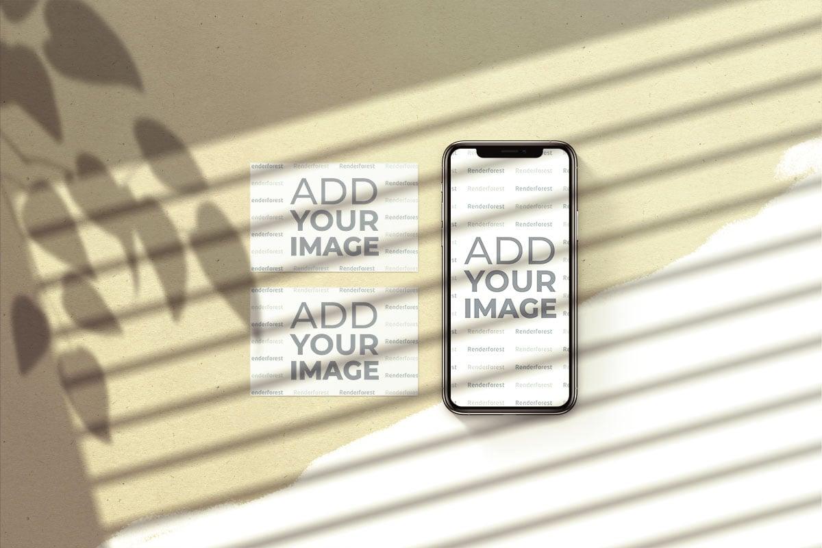 iPhone avec Cartes de Visite