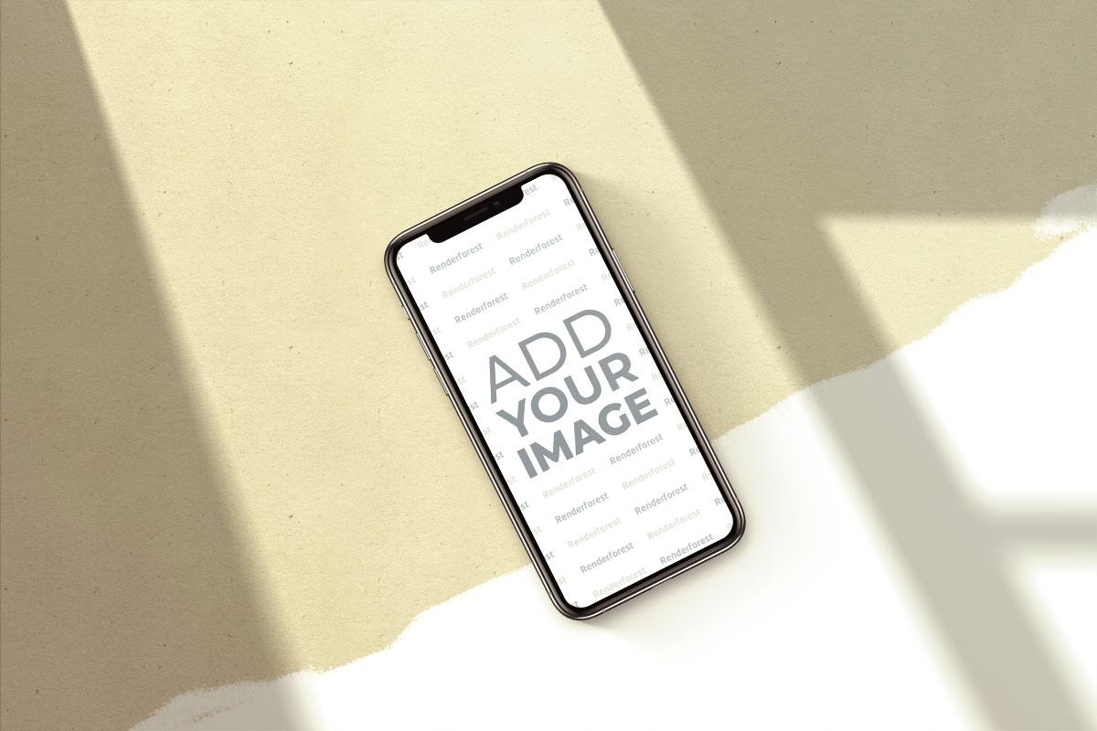 iPhone sur Fond Rétro