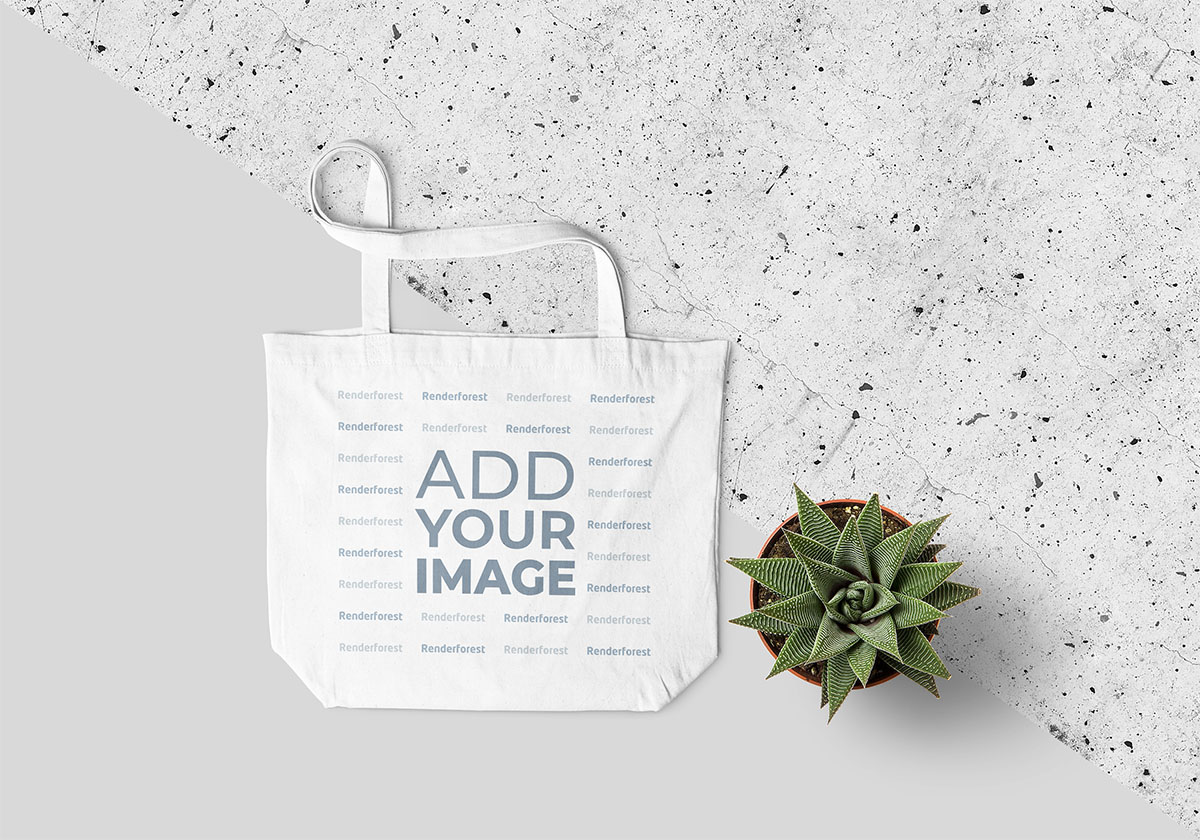 Tote Bag with a Cactus