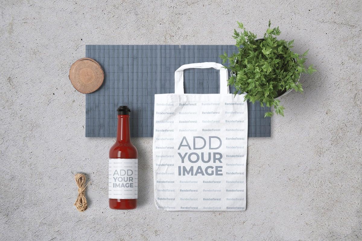 Food Paper Bag Mockup