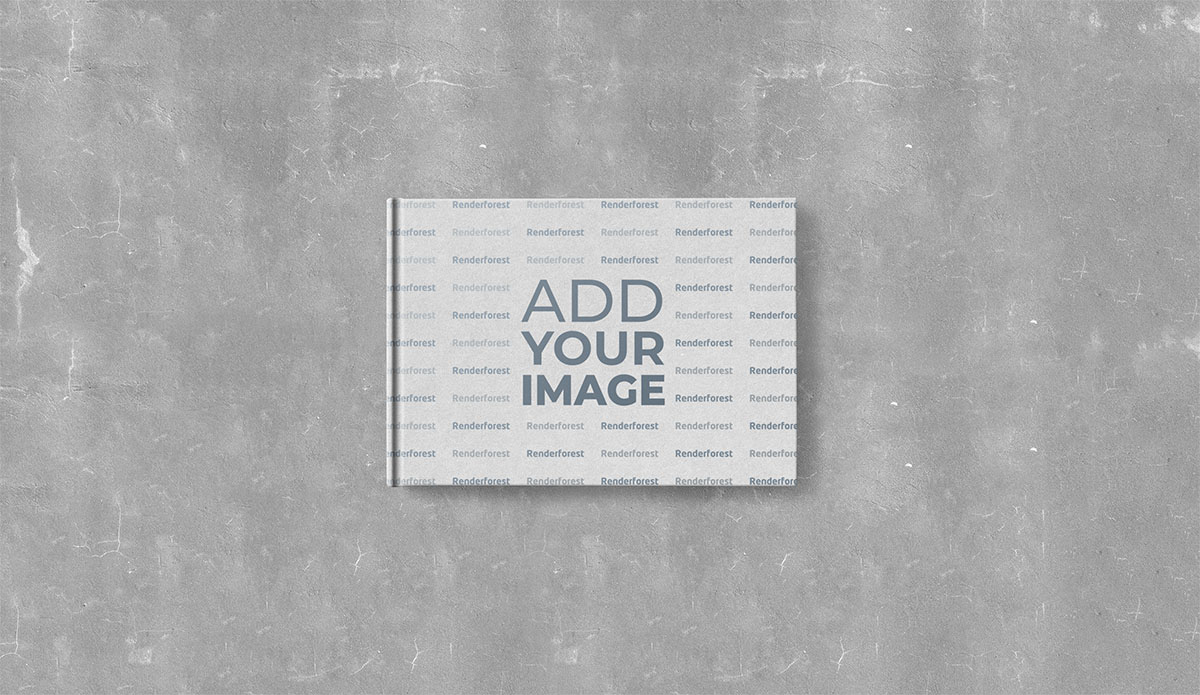 Hardcover Notepad on a Gray Background