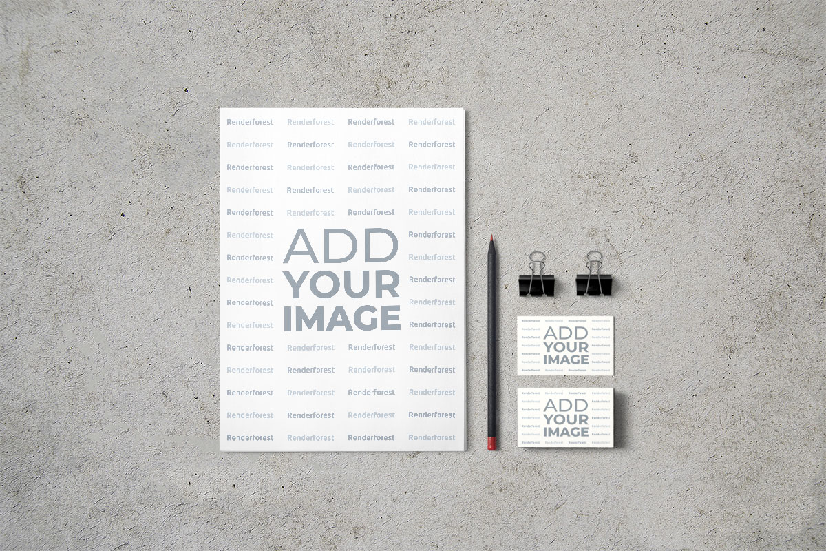 Clipboard and Business Cards
