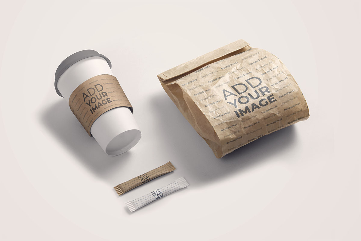 Coffee Package with a Paper Cup