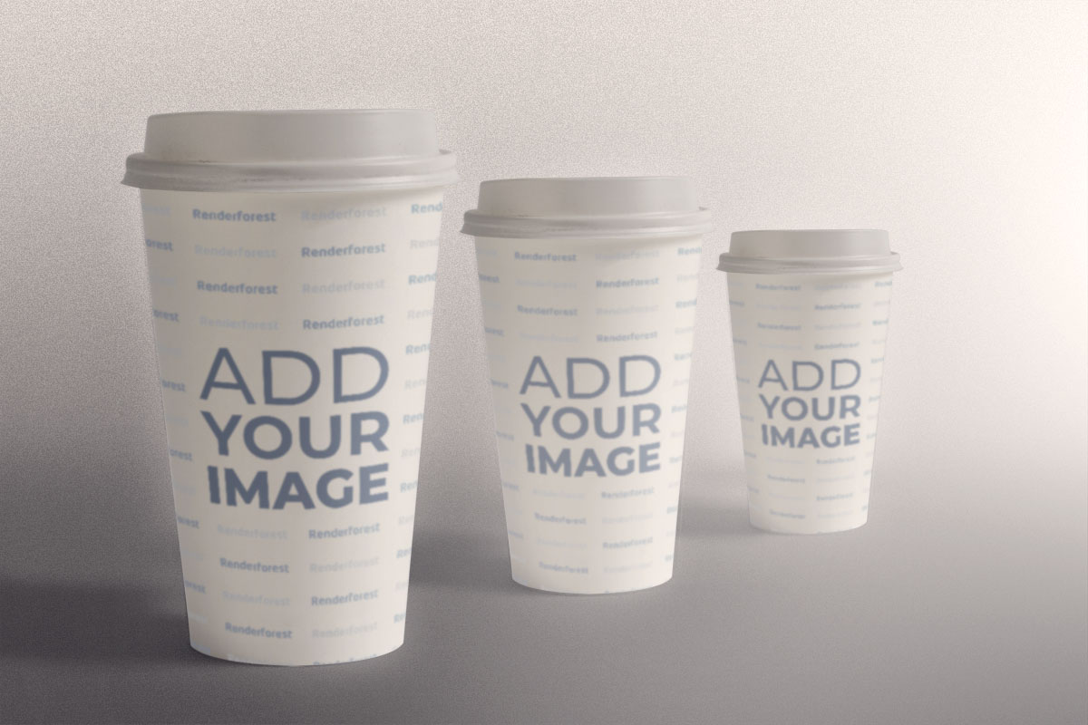 Paper Coffee Cups with Different Sizes