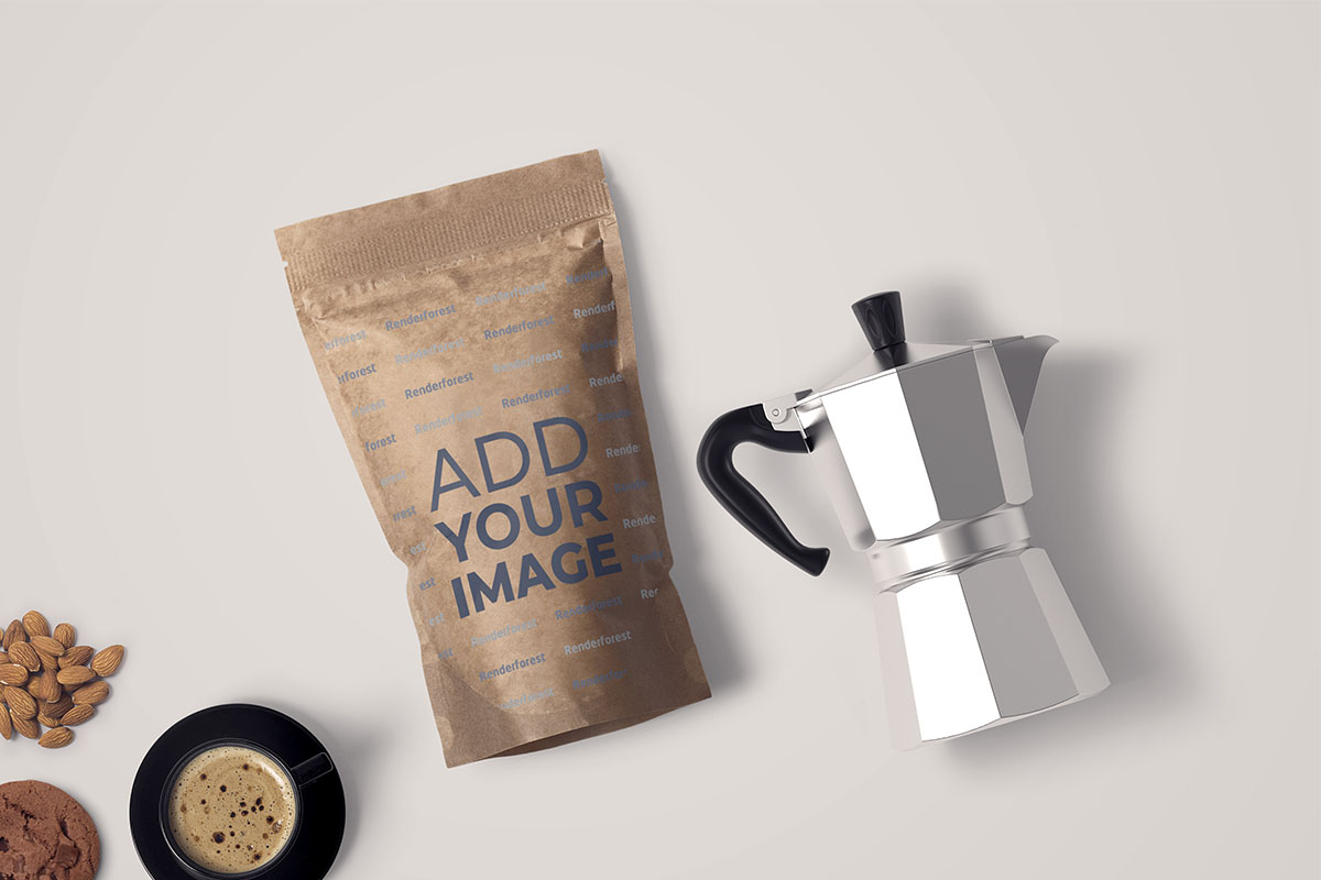Coffee Package with a Coffee Pot