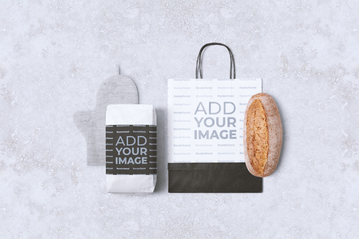 Flour Package, a Paper Bag, and Bread