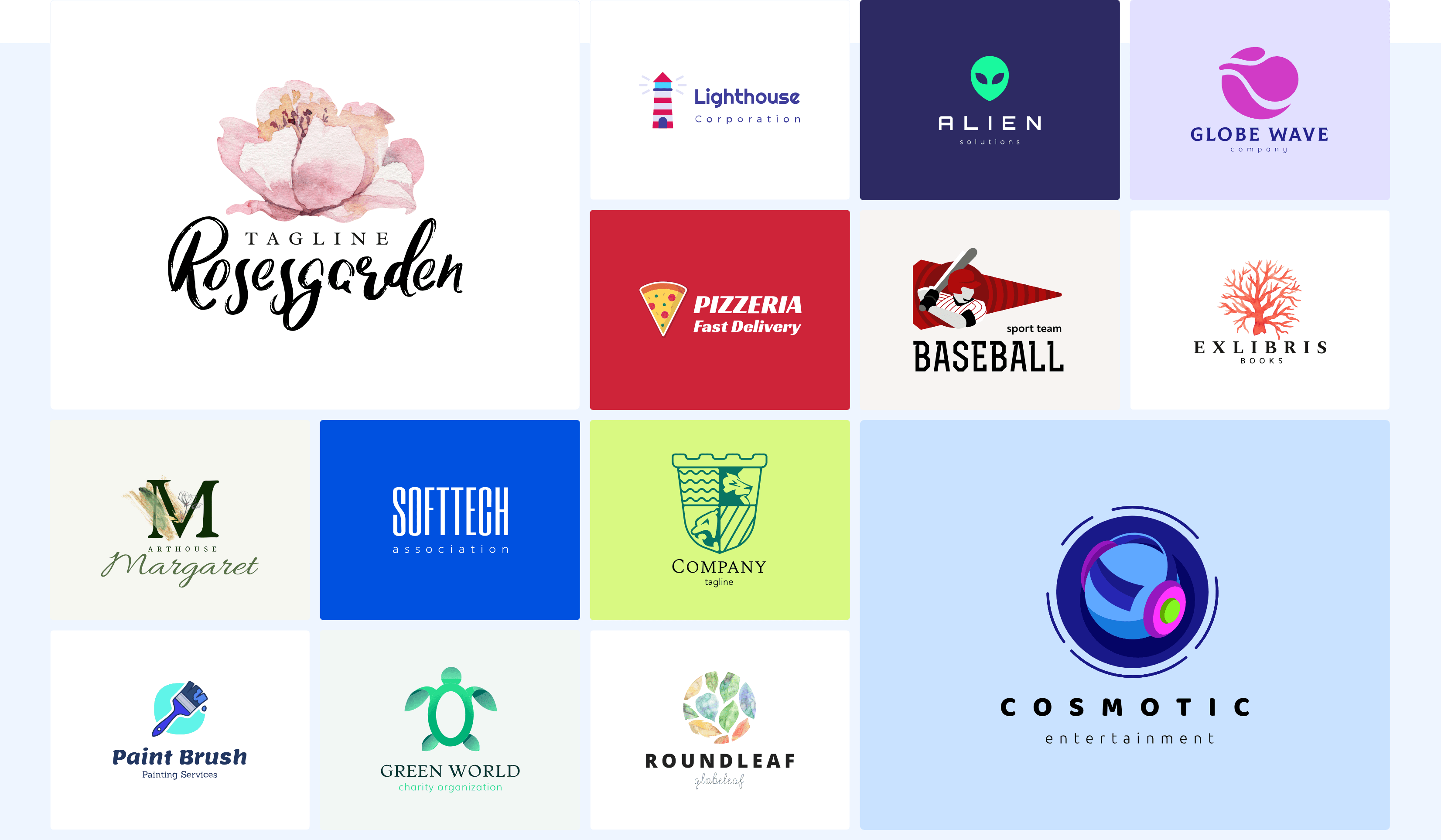 Logos created by Renderforest